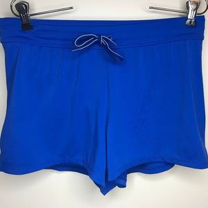 Lands End Blue lined Swim / Board Shorts Size 4